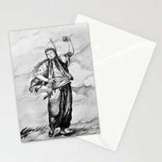 the old term female dancer Stationery Cards