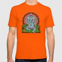 Peace Ganesh Mens Fitted Tee Orange SMALL