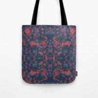 Blue Tile Tote Bag