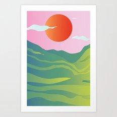 POP LANDSCAPE Art Print