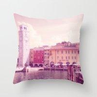RIVA II - Lake Garda - I… Throw Pillow