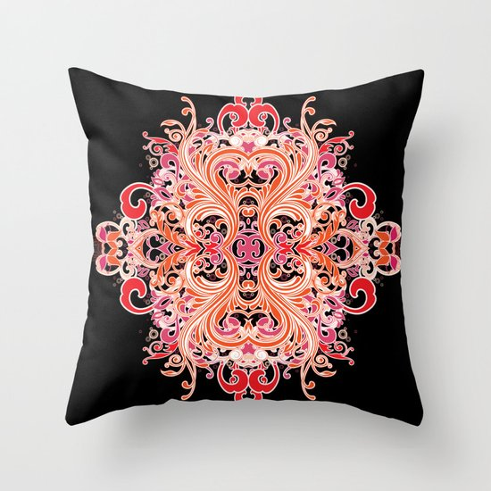 Chinese Flower Throw Pillow