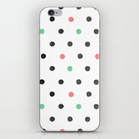 Watercolor Polka! iPhone & iPod Skin