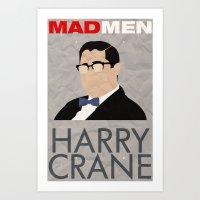 Mad Men - Harry Crane Art Print