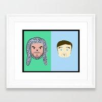 Wilfred & Ryan Framed Art Print