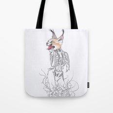 Half Man Half Caracal Tote Bag