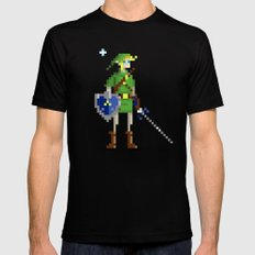 Pixel Link Mens Fitted Tee Black SMALL