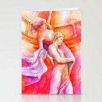The Story Of Two Colors Stationery Cards