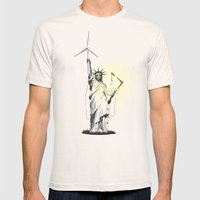 And Then There Was Light Mens Fitted Tee Natural SMALL
