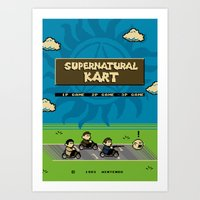 Supernatural Kart Art Print