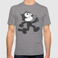 Felix The Cat Mens Fitted Tee Tri-Grey SMALL