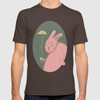 Sad Bunny  Mens Fitted Tee Brown SMALL