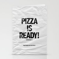 Pizza Is Ready! Stationery Cards