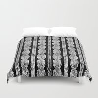 Cable Row B Duvet Cover