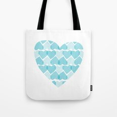 Blue, blue heart Tote Bag