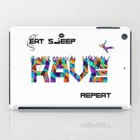 Eat Sleep RAVE Repeat iPad Case