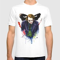 Angel Of Chaos (The Joker) Mens Fitted Tee White SMALL