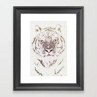 The Intellectual Tiger Framed Art Print