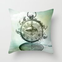 Timeless Flow Throw Pillow