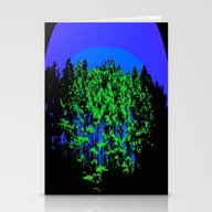 Mod Trees Blue & Green Stationery Cards