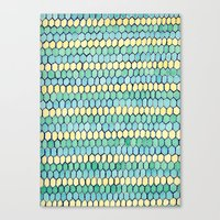 Watercolour Honeycomb Tank Top Canvas Print