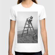 Sunrise Womens Fitted Tee White SMALL