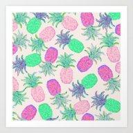 Pineapple Pandemonium Pi… Art Print