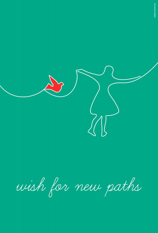 wish for new paths Art Print