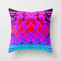 Neon Time Throw Pillow