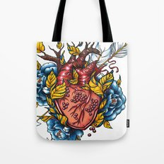 Pomegranate Heart Tote Bag