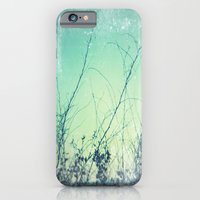 iPhone & iPod Case featuring sea plants (teal) by Anne Dante