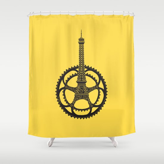Le Tour de France Shower Curtain