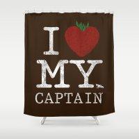 I Love My Captain Shower Curtain