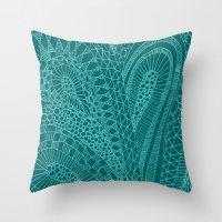 Sketchy Geometric Waves Throw Pillow