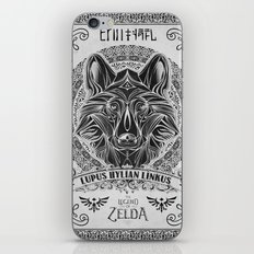 Legend of Zelda Twilight Wolf Link Line Art iPhone & iPod Skin
