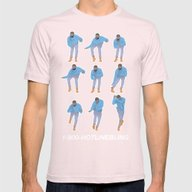 Hotline Bling (blue) Mens Fitted Tee Light Pink SMALL