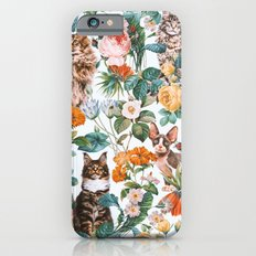 Cat and Floral Pattern III iPhone 6s Slim Case