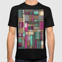 City Lines Mens Fitted Tee Tri-Black SMALL