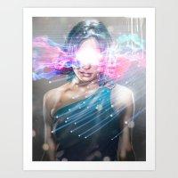 Leaper (time Traveller) Art Print