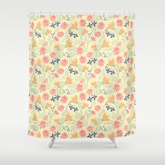 Autumn Floral Pattern Shower Curtain