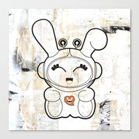 Space Bunny Canvas Print
