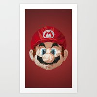mario Art Prints featuring Mario by s2lart