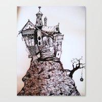 Creepy House Canvas Print