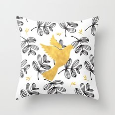colomba gold Throw Pillow