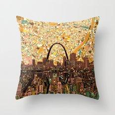 st louis city skyline Throw Pillow
