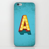 A in lights iPhone & iPod Skin