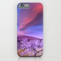 Lenticular clouds over Sierra Nevada and almonds iPhone 6 Slim Case