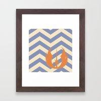 Ahsoka Tano Chevrons Framed Art Print