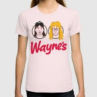 Wayne's Double Womens Fitted Tee Light Pink SMALL