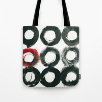 Black Circle Red Circle Tote Bag